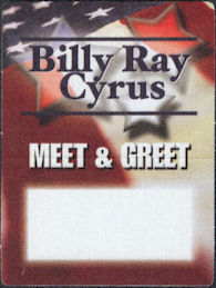 ##MUSICBP0007 - Group of 4 Billy Ray Cyrus Cloth OTTO Backstage Passes from the Spirit of America Tour