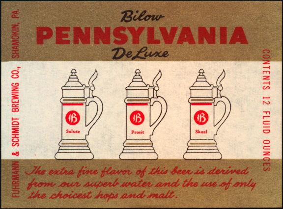 #ZLBE057 - Bilow Pennsylvania Dutch Beer Label