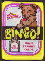 #ZZA169 - Wax Pack of Bingo the Dog Movie Trading Cards