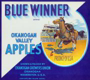 #ZLC138 - Blue Winner Apple Crate Label