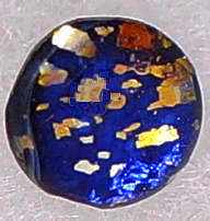 #BEADS0543 - 6mm Round Blue Fire Opal Glass Cabochon - As Low as 10¢ each