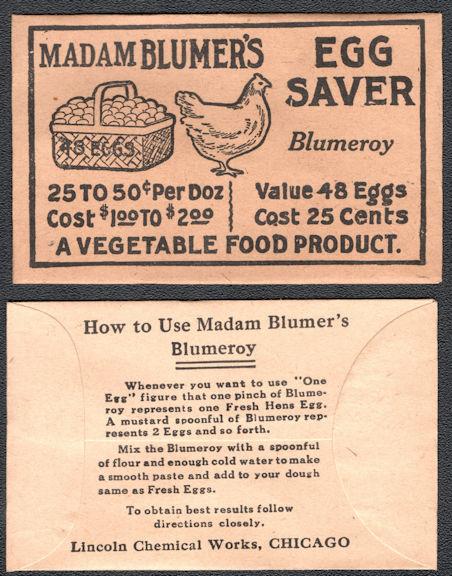 #CS077 - Group of 12 Madam Blumer's Egg Saver Envelopes