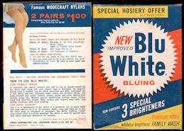 #CS442 - Full Unopened Box of Blu White Bluing - Hosiery Ad on Reverse