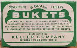 #CS492 - Empty Box of Bukets Tablets - Mechanicsburg, Ohio