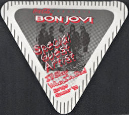 ##MUSICBP0712  - Bon Jovi Cloth OTTO Cloth Backstage Pass from the 1993 I'll Sleep When I'm Dead Tour