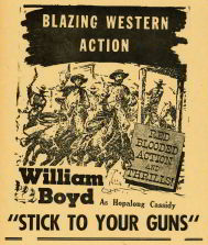 #CH326-34  - Hopalong Cassidy Stick to Your Guns Movie Poster