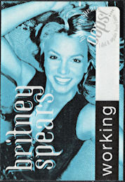 ##MUSICBP0270  - Britney Spears Perri Cloth Backstage Working Pass from the 2000 Oops I Did it Again Tour