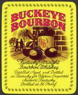 #ZLW081 - Buckeye Bourbon Kentucky Bourbon Whiskey Label