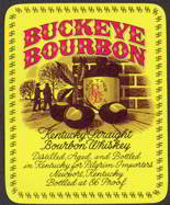 #ZLW097 - Large Buckeye Bourbon Kentucky Whiskey Label