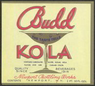 #ZLS099 - Budd Kola Soda Label