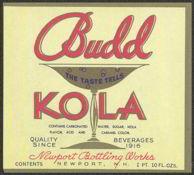 #ZLS099 - Budd Kola Soda Label