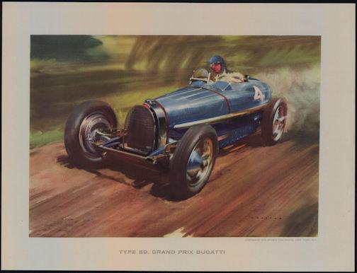 #MS250 - 1958 Grand Prix Bugatti Wootton Print