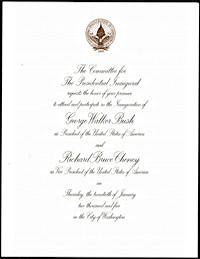 #PL087 - George Walker Bush/Richard Bruce Cheney Inauguration Invitation