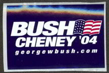 #PL244 - Bush Cheney Sticker