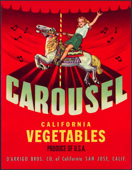 #ZLC420 - Carousel California Vegetables Crate Label