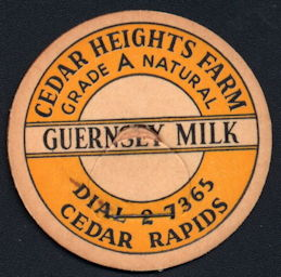 #DC194 - Cedar Height's Farm Guernsey Milk Bottle Cap