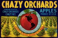 #ZLC170 - Chazy Orchards Apple Crate Label