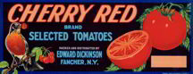 #ZLCA*033 - Cherry Red Tomato Crate Label with a Robin