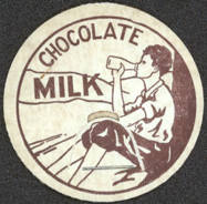 #DC124 - Early Chocolate Milk Bottle Cap Picturing a Boy in Knickers