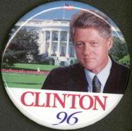 #PL214 - Large Clinton 96 Pinback