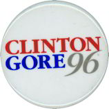 #PL135 - Clinton Gore 96 Pinback