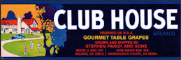 #ZLSG110 - Club House Gourmet Table Grapes Crate Label - Delano, California - Golfers