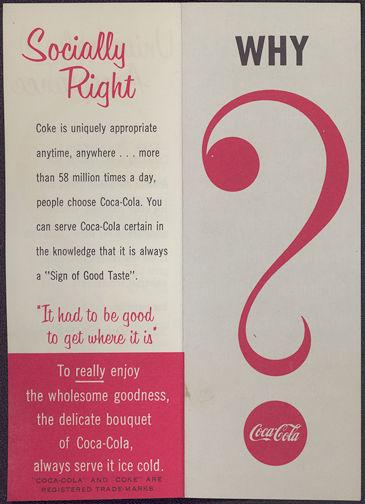 #CC242 - Coca Cola Why Coca Cola Brochure