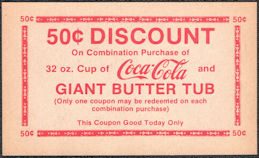 #CC369 - Group of Four 50¢ Discount Coca Cola Theater Coke Coupons