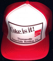 #CC356  - Coke is it! Thomasville Bottling Company Adjustable Size Hat