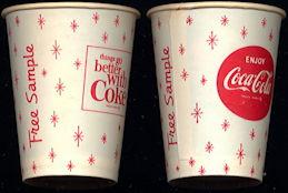 #CC075 - Coca Cola Snowflake Design Free Sample Cup