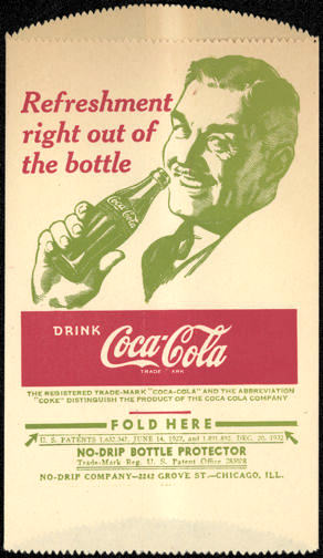 #CC253 - Coca Cola Dry Server with Clark Gable Look Alike Drinking Coca Cola