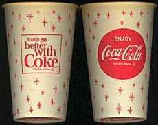 #CC012 - Coke Cup w Snowflakes Logo