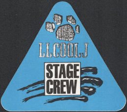 ##MUSICBP0725  - LL Cool J OTTO Cloth Backstage Pass from the 1989/90 Nitro World Tour