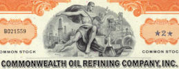 #ZZCE057 - Commonwealth OIl Refining Company, Inc. Stock Certificate