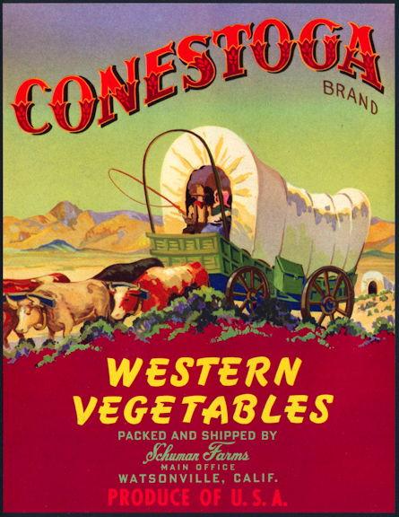 #ZLC421 - Conestoga Vegetables Crate Label