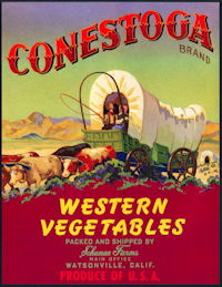 #ZLC421 - Conestoga Vegetables Crate Label