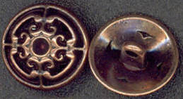 #BEADS0560 - Antiqued Copper Button - As low as 25¢