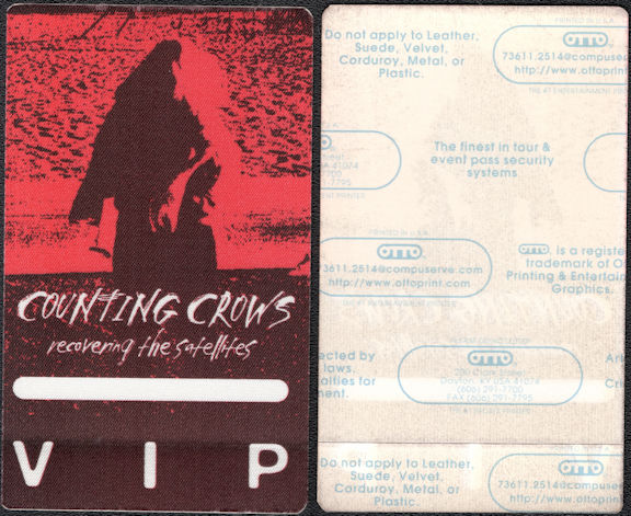 ##MUSICBP0548 - Counting Crows Cloth OTTO Backstage Pass from the Recovering the Satellites Tour
