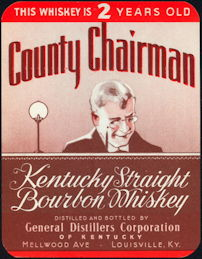 #ZLW119 - County Chairman Kentucky Straight Bourbon Whiskey Label