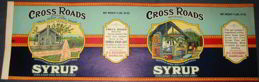 #ZLCA903 - Huge Cross Roads Syrup Pail Label