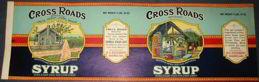 #ZLCA903 - Huge Cross Roads Syrup Pail Label