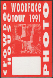 ##MUSICBP0711  - Crowded House Cloth OTTO Backstage Pass from the 1991 Woodface Tour