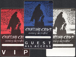 ##MUSICBP0548 - Group of 3 DIfferent Counting Crows Cloth OTTO Backstage Pass from the Recovering the Satellites Tour - Vip, Guest, All Access