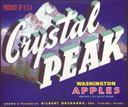#ZLC216 - Crystal Peak Washington Apples Crate Label