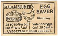 #CS077 - Madam Blumer's Egg Saver Envelope