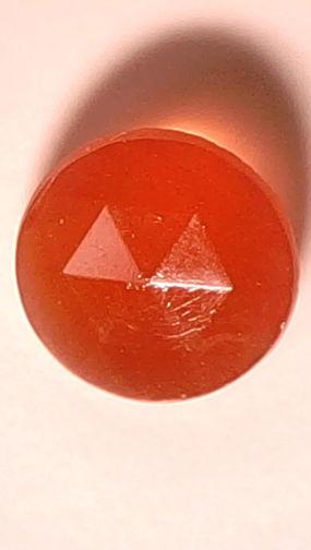 #BEADS0500 - 9mm Very Old Czech Cornelian Glass Rhinestone - As low as 10¢ each