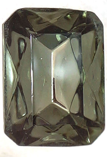 #BEADS0540 - Large 20mm Black Diamond Octagon Glass Rhinestone - As Low as 30¢ each