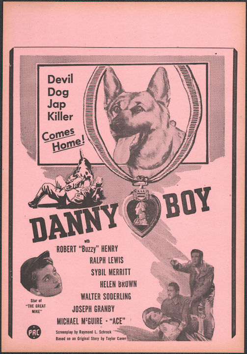 """#CH326-38 - Danny Boy Movie Poster Broadside - """"Devil Dog Jap Killer"""""""