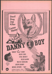 "#CH326-38 - Danny Boy Movie Poster Broadside - ""Devil Dog Jap Killer"""