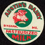 #DC066 - Austin's Dairy Milk Bottle Caps with Cow